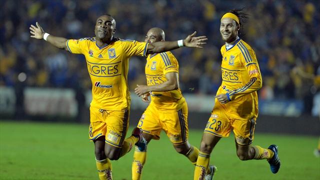 Tigres vence al América en la ida con gol del ecuatoriano Joffré Guerrón