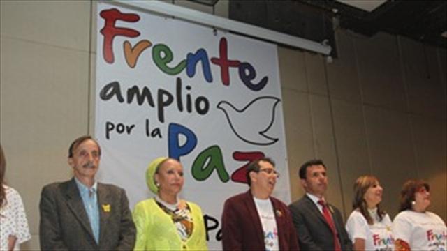 Frente amplio por la paz se pronunciará sobre petición de las Farc