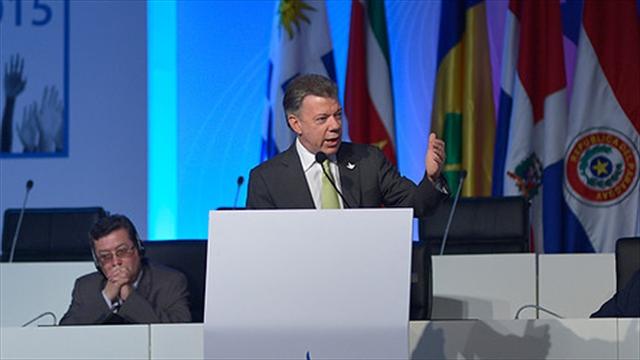 La paz de Colombia es la paz del continente: Santos
