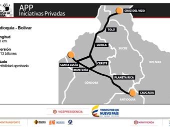 Conpes aprueba la sexta APP para Autopista Antioquia – Bolívar