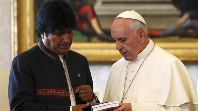 Evo Morales visitará al papa: El papa recibirá en audiencia a Evo Morales el próximo 15 de diciembre