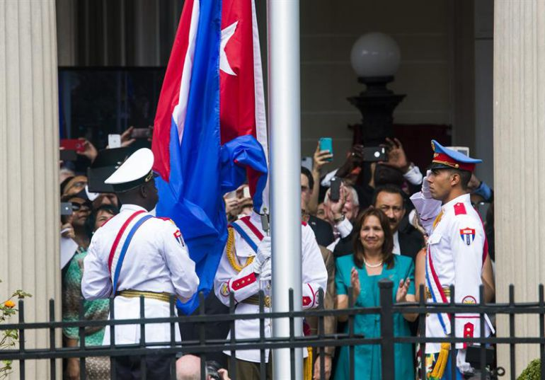 Cuba abrió su embajada en Estados Unidos.