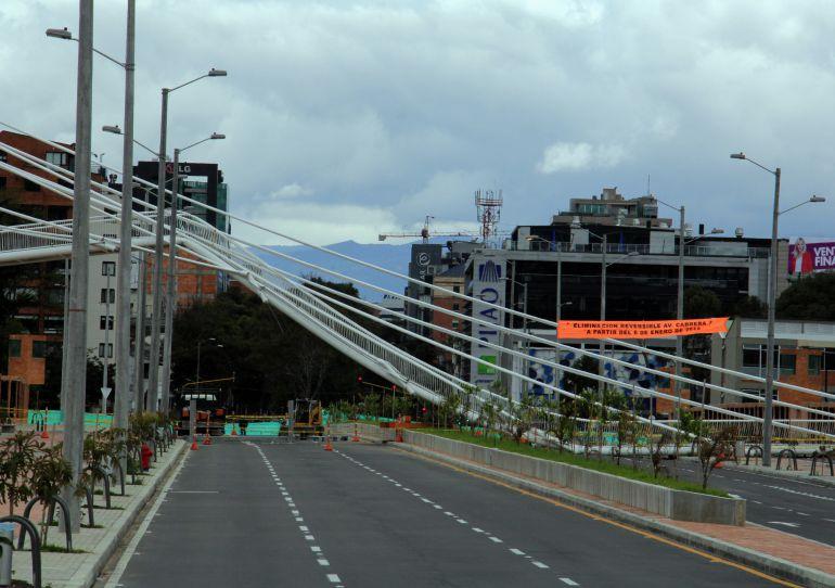 Puente de la Carrera 11 que colapsó en Bogotá