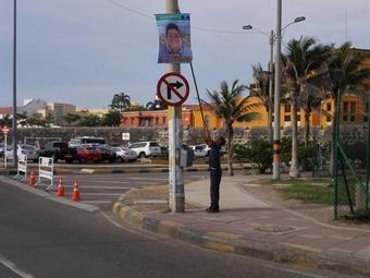 200 avisos con propaganda electoral ilegal fueron desmontados en Cartagena