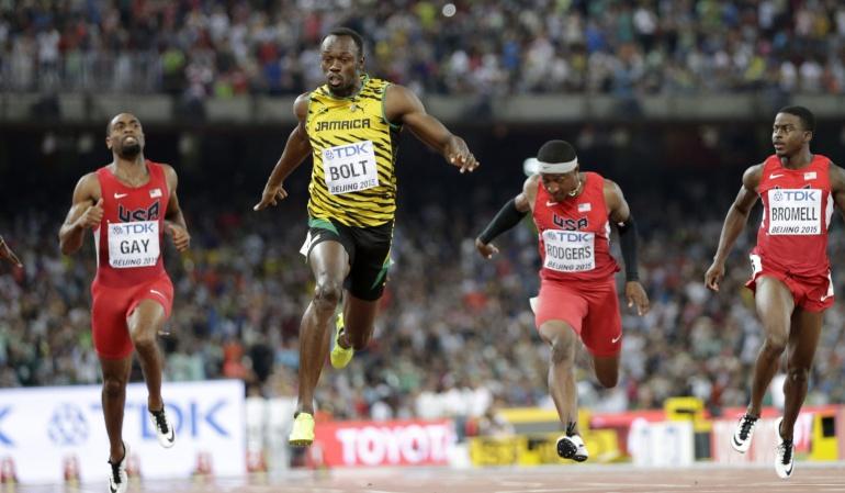 Bolt retiene el título de los 100 metros