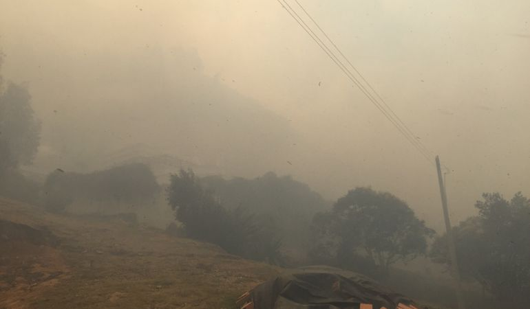 Deberán ser evacuadas 20 viviendas por incendio forestal en Villa de Leyva