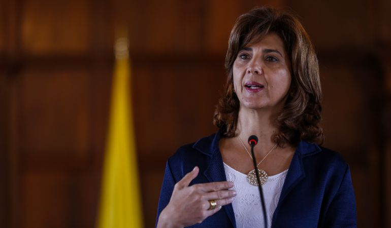 La Cancilelr María Ángela Holguín.