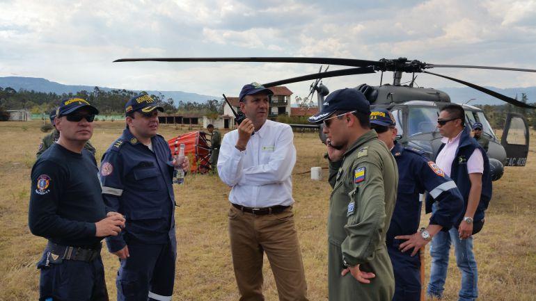 Incendio forestal deja 350 hectáreas afectadas en Villa de Leyva