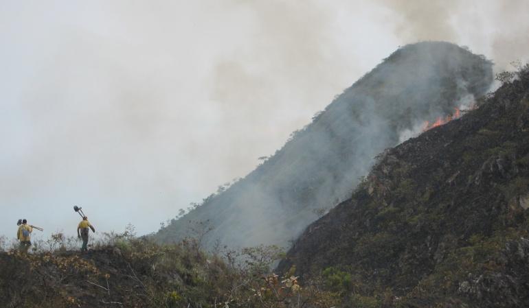 Hay 26 incendios activos en el país