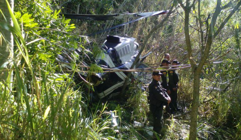 Copiloto de helicóptero accidentado es atendido en el Hospital de Soatá, Boyacá