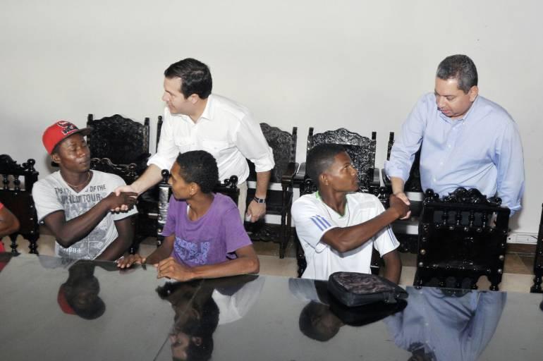 Jóvenes en riesgo de Cartagena acuerdan la Paz