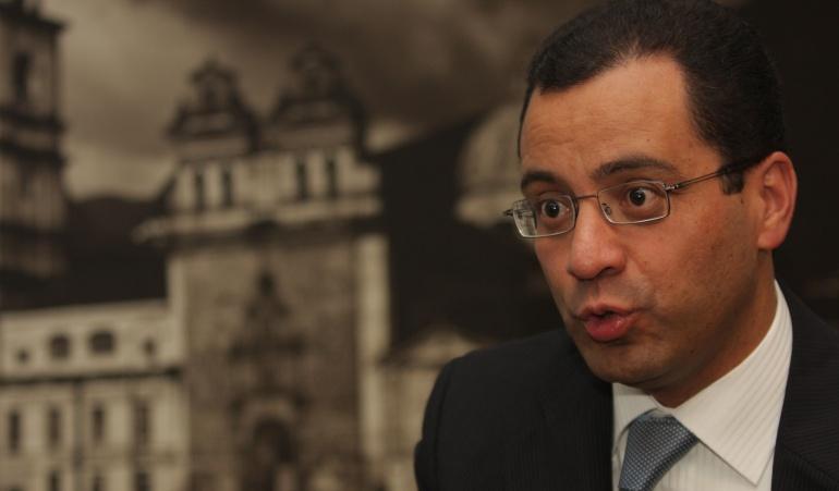 Exsecretario de Prensa de Presidencia, César Mauricio Velásquez.
