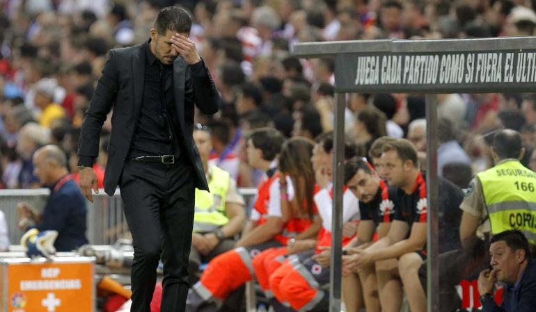 """Simeone: """"Salvo en quince minutos, el Barcelona fue mejor"""""""