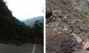 Derrumbes en la vía Bogotá - Villavicencio.