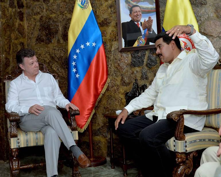 Gremios y trabajadores esperan acuerdos en reunión de Santos y Maduro