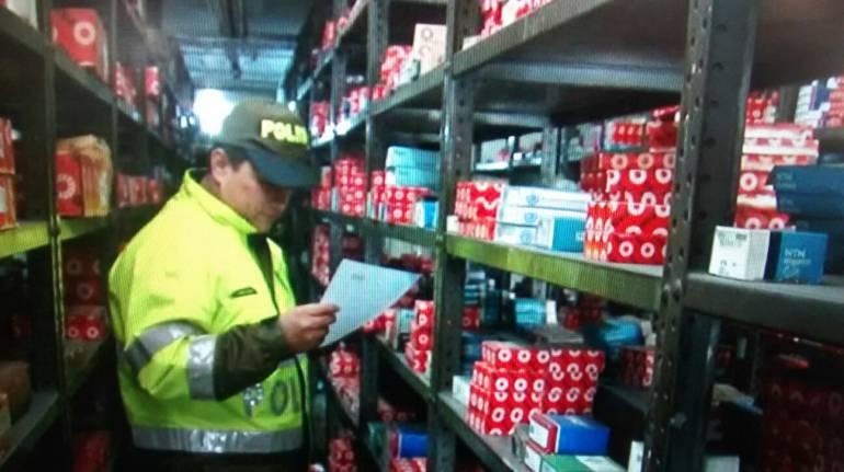 Redada a contrabandistas de autopartes en Bogotá