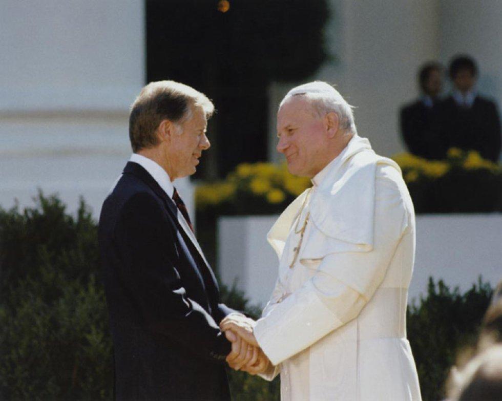 Presidente Jimmy Carter con el papa Juan Pablo II
