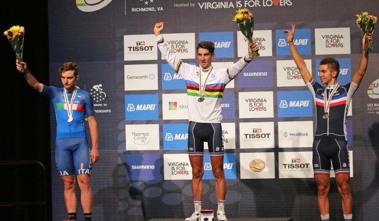 Kevin Ledanois, campeón mundial en ruta Sub-23