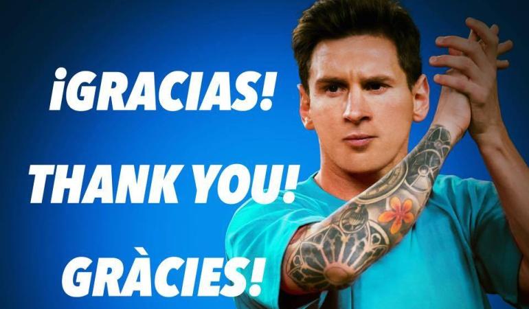 Lionel Messi agradece apoyo tras su lesión