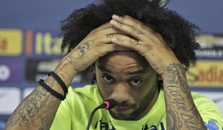 """Eliminatorias Mundial Rusia 2018 Brasil derrota Chile Marcelo Real Madrid: Marcelo admite que Brasil """"deja que desear"""" en los partidos oficiales"""