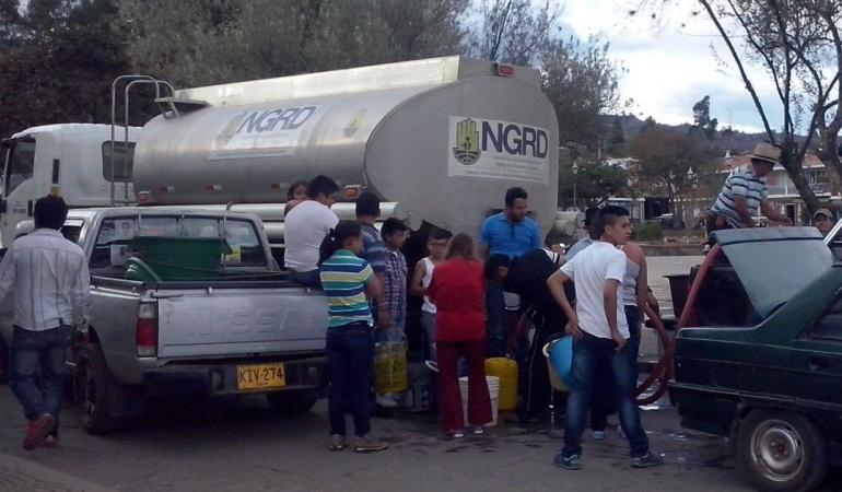 Más de 6.000 personas sin agua potable en Chitaraque, Boyacá: Más de 6.000 personas sin agua potable en Chitaraque, Boyacá