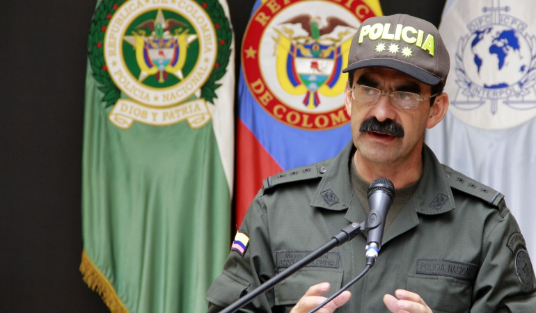 El director de la Policía, general Rodolfo Palomino