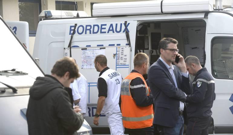 Equipo de emergencia en Francia.