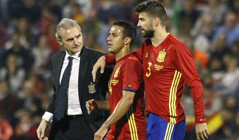 Thiago abandona la concentración de la selección española