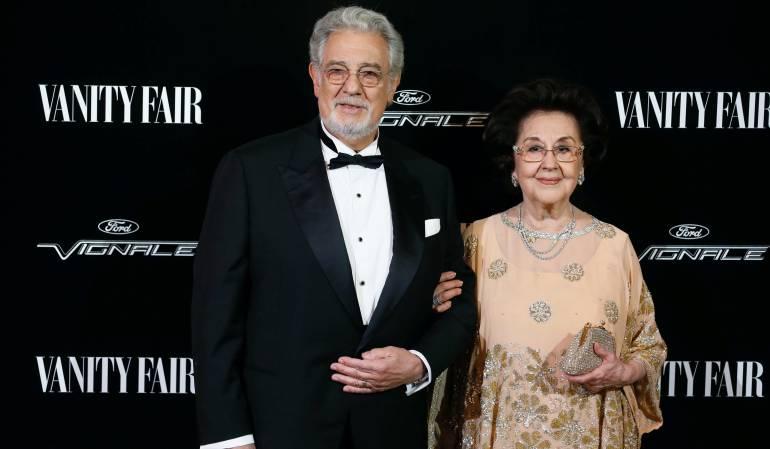 Plácido Domingo posa con su mujer Marta Ornelas.