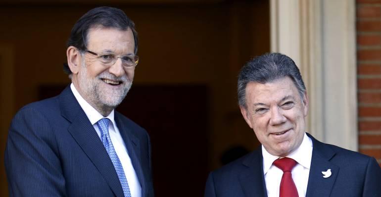 """Reunion entre Rajoy y Santos Militares caidos en Combate en españa: Rajoy recuerda a los cinco """"héroes"""" colombianos muertos en misiones de paz"""