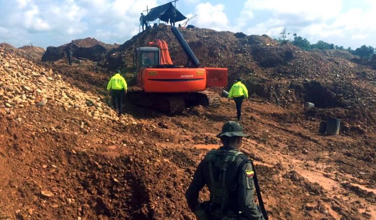 Primer embargo de bienes usados para la minería ilegal