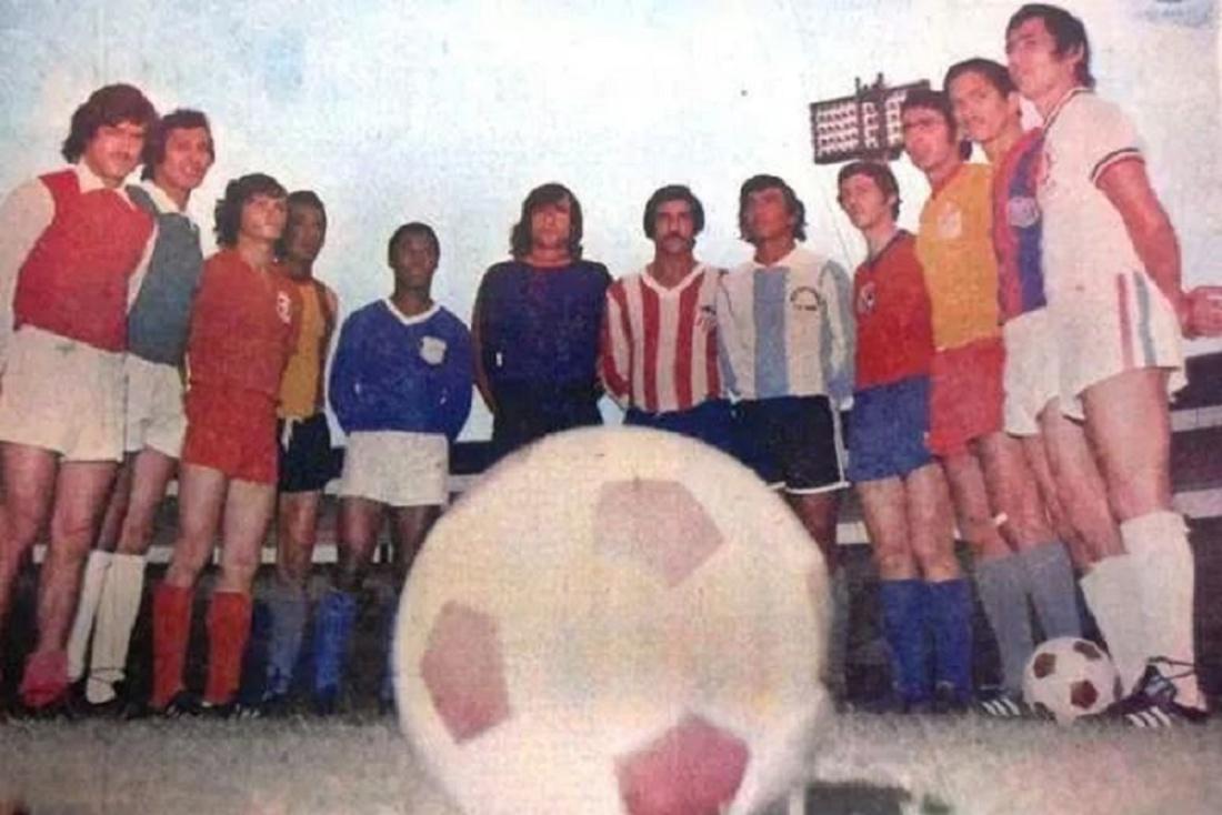 Los capitanes del fútbol colombiano de 1975