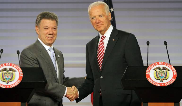 Biden felicitó a Santos por avances en proceso de paz