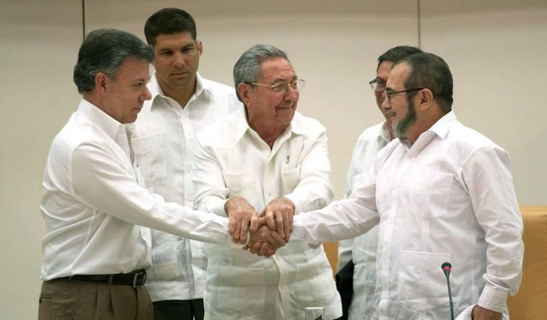 Santos y Timochenko en La Habana (Cuba).