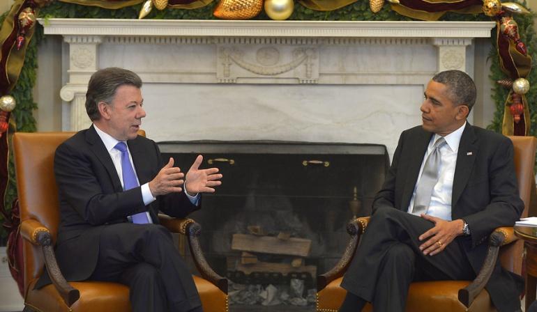 El 4 de febrero encuentro entre Barack Obama y Juan Manuel Santos