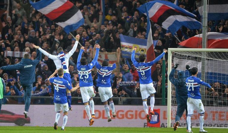 Sampdoria venció 2-3 al Genoa y se aleja de la zona del descenso