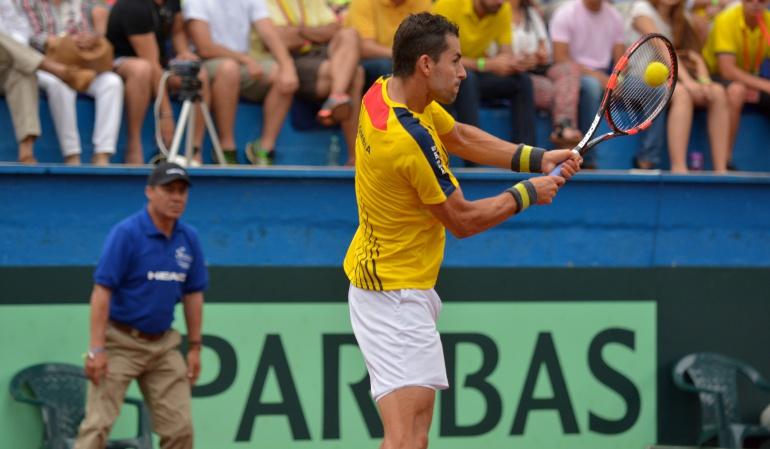 Santiago Giraldo Lukas Rosol: Santiago Giraldo inició el año con una derrota ante Lukas Rosol