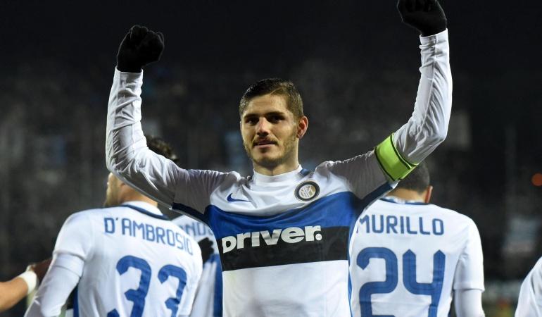 Inter derrotó 0-1 al Empoli y se mantiene en el primer lugar del fútbol italiano