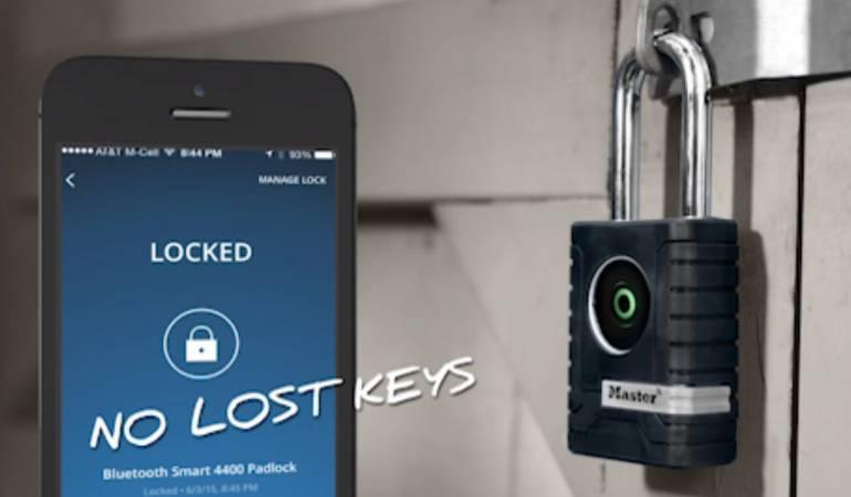 CES 2016: Candado inteligente usaría como llave el Bluetooth