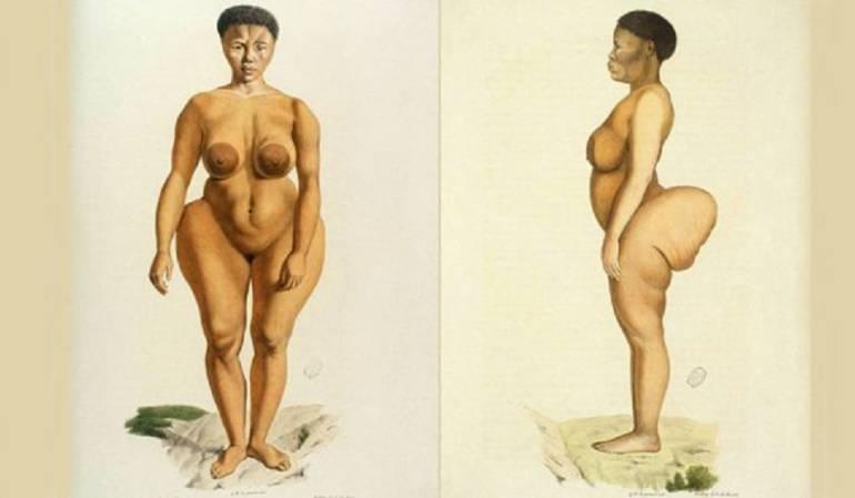 La africana famosa por su trasero que fue convertida en atracción de circo