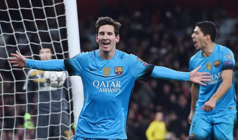 Lionel Messi marcó doblete ante Arsenal