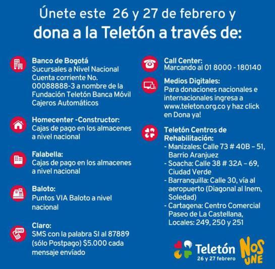 Teletón Colombia contará también con participación de las emisoras radiales: Esta noche se iniciará la versión 2016 de Teletón