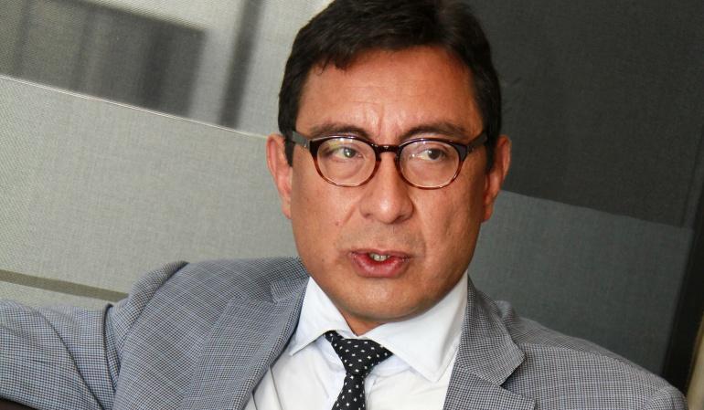 En la foto: Presidente de Colpensiones, Mauricio Olivera