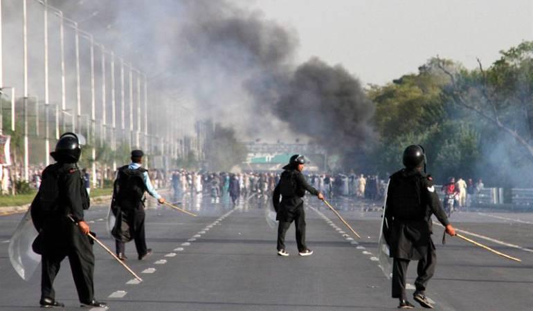 Foto de archivo de una protesta en Pakistán