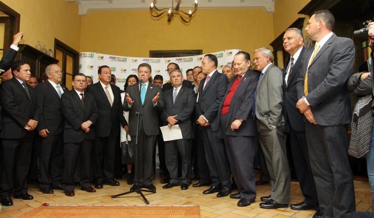 Sectores del conservatismo buscan acercamiento con el Gobierno Santos