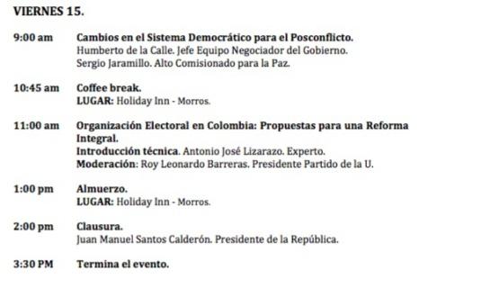 Foro en cartagena sobre reformas pol ticas y paz partidos - Reformas en cartagena ...