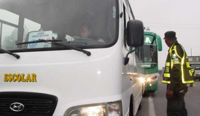 En 2018 ya van cerca de 900 comparendos a rutas escolares en Bogotá