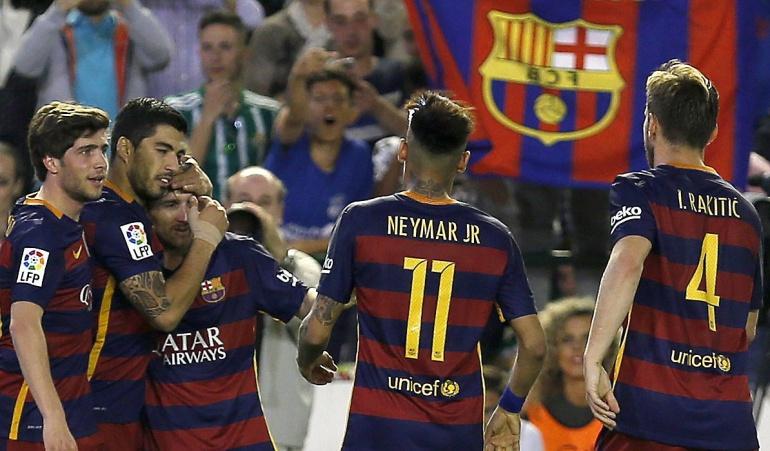 Real Betis Barcelona 2-0: Barcelona venció 2-0 al Betis y se mantiene en el primer lugar de la tabla