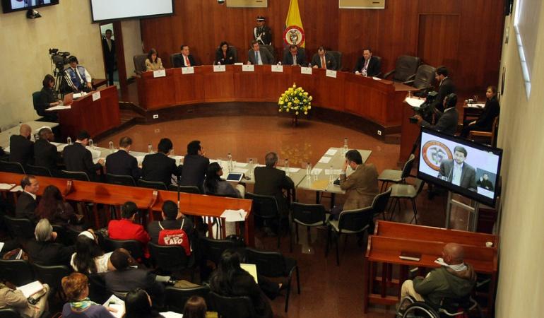 proceso paz: audiencia pública Corte Constitucional: Corte Constitucional no ha decidido si hará audiencia pública sobre acuerdo de paz