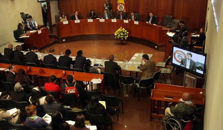 proceso paz: concepto Farc Corte Constitucional: A través de la Presidencia las Farc tendrán que hacer llegar concepto a la Corte Constitucional